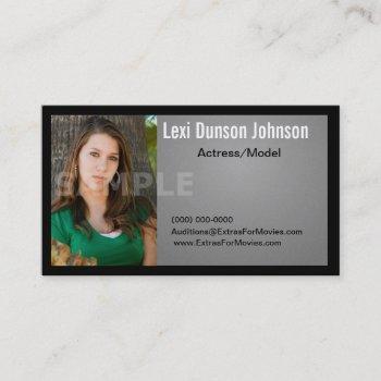 headshot business card models or actors