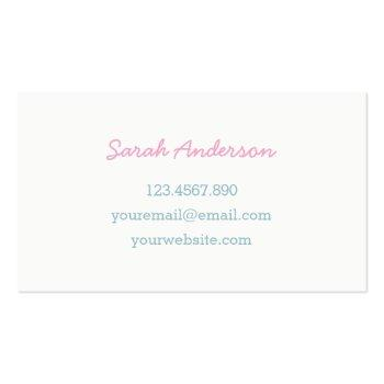Small Heart Sugar Cookie Business Card For Bakers Back View
