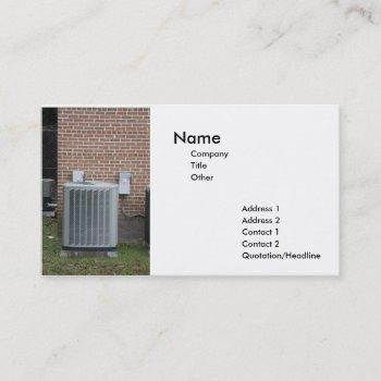 heat pump business card