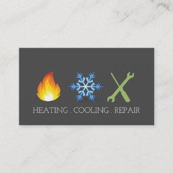 heating and air conditioning repair ac business card