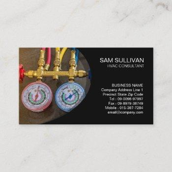 heating ventilation air conditioning hvac business card