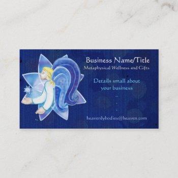 heavenly beings angel folk art medium light worker business card