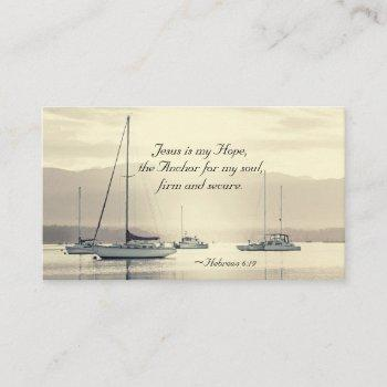 hebrews 6:19 jesus is the anchor for my soul, business card