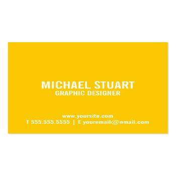 Small Hello | Casual Modern White & Yellow Speech Bubble Square Business Card Back View