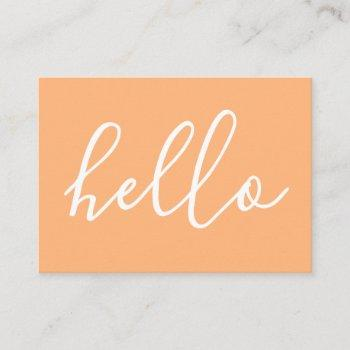 hello comment card