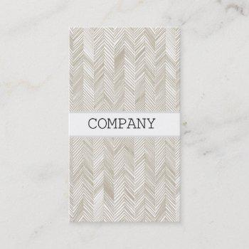 herringbone strip business card