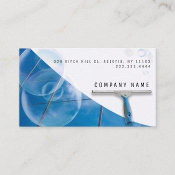 high buildings window cleaning service company business card