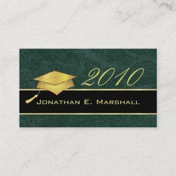 high school graduation name cards - 2010