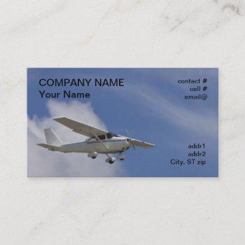 high wing light aircraft business card