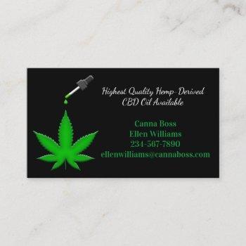 highest quality hemp-derived cbd oil available business card