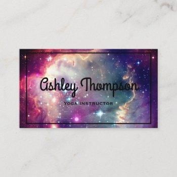 hipster galaxy nebula business card