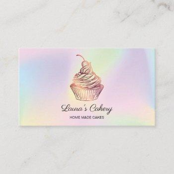 holograph cakes & sweets cupcake home bakery business card