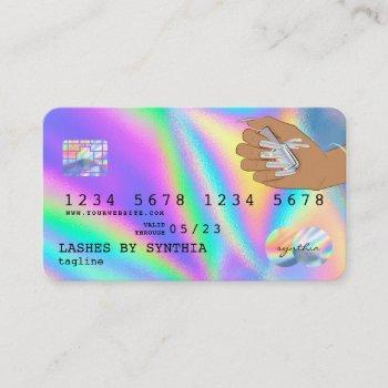 holograph  credit card nail tech