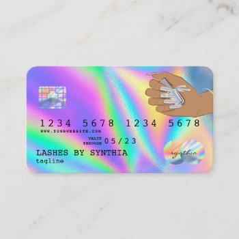 holograph  credit card nail tech