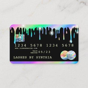 holograph  drips modern credit card