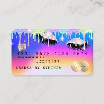 holograph unicorn modern credit card lashes
