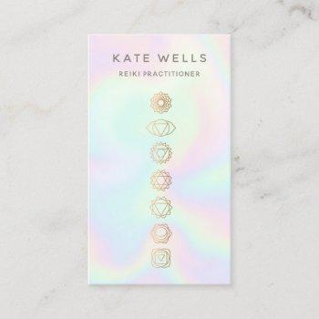 holographic chakras reiki practitioner business card