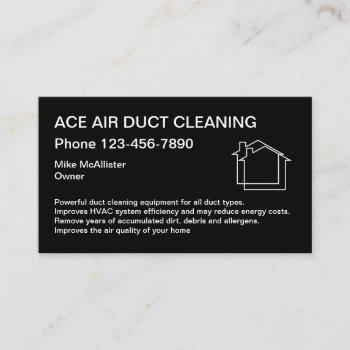 home air duct cleaning services design business card