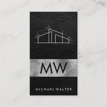 home architect logo business card