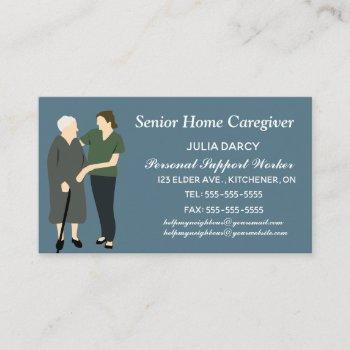home care and nursing services business card