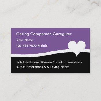 home health caregiver business cards