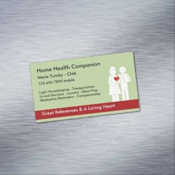 home health companion cna business card magnet