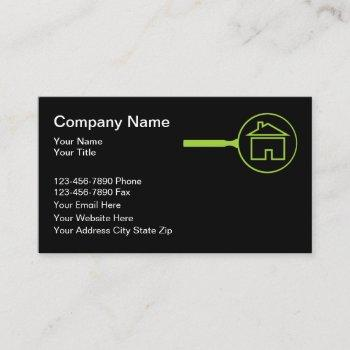 home inspection and appraisal business card