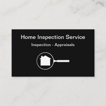 home inspection and appraisals business card