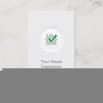 home inspection house safety elegant white business card