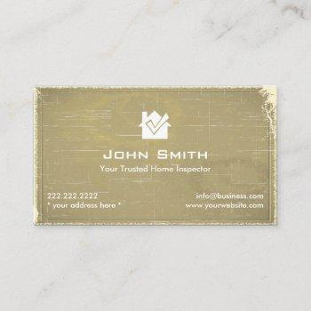 home inspection vintage professional business card