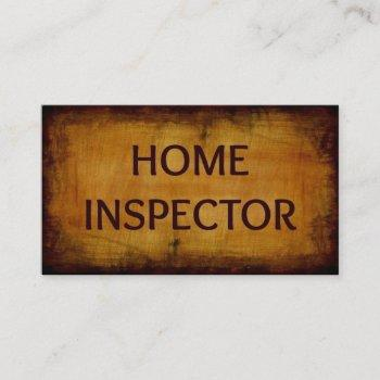home inspector business card