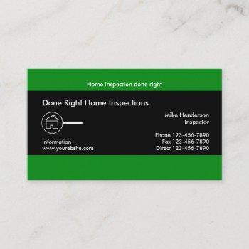 home inspectuion service business card