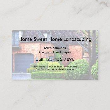 home landscaping business card