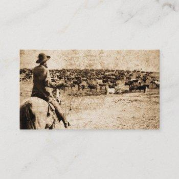 home on the range vintage cowboy old west business card