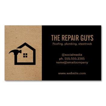 home repair | handyman | construction business card magnet