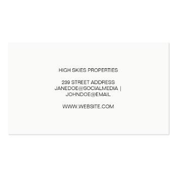 Small Homes | Real Estate Agent Business Card Back View