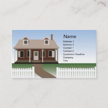 house - business business card
