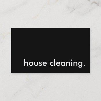 house cleaning. business card