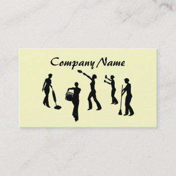 house cleaning & maid services business card