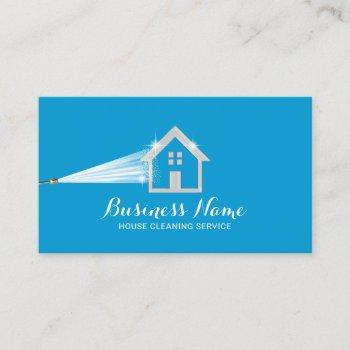 house cleaning power wash roof cleaning business card