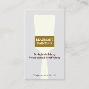 house painter paint brush logo 2 business card