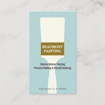 house painter paint brush logo business card