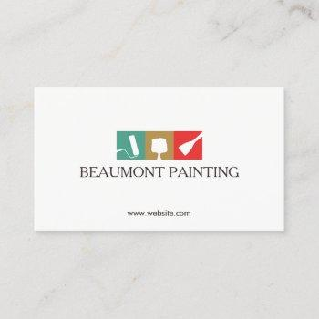 house painter painting tools logo business card