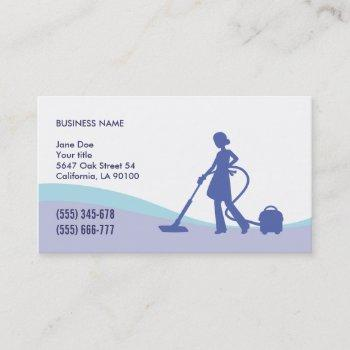 housekeeping & maid business card template