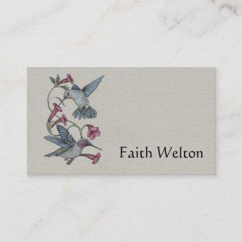 hummingbirds & vine business card