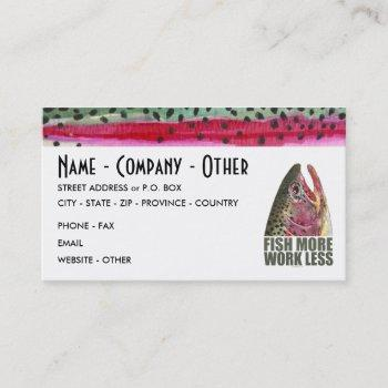 humorous fishing business card
