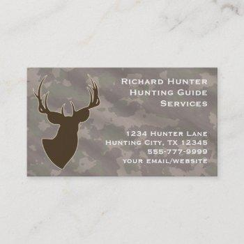 hunting hunter wildlife whitetail buck animal business card