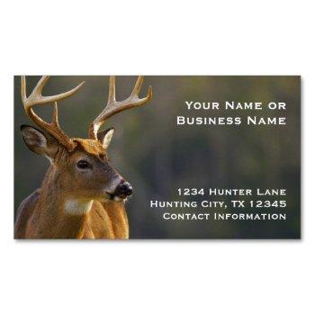 hunting hunter wildlife whitetail buck animal magnetic business card