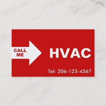 hvac / air conditioning business cards