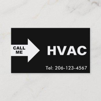 hvac / air conditioning custom business cards